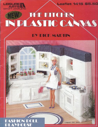 (The kitchen in plastic canvas (Fashion doll playhouse))