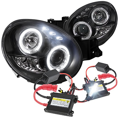 Impreza WRX LED Projector Headlights Black W/ H1 6000K HID Conversion Kit