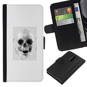 For LG G3 Case , Drawing Tattoo Black White Art - la tarjeta de Crédito Slots PU Funda de cuero Monedero caso cubierta de piel