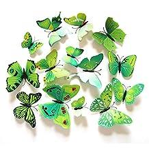 Webetop 24pcs 3d Fashion Lively Butterfly Wall Sticker DIY Decor Decals Nursery Decoration,Bathroom Decor,Office Decor,3d Wall Art,3d Crafts for Wall Art Kids Room Bedroom