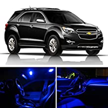 LEDpartsNOW Chevy Equinox 2010-2017 Blue Premium LED Interior Lights Package Kit (11 Pieces)