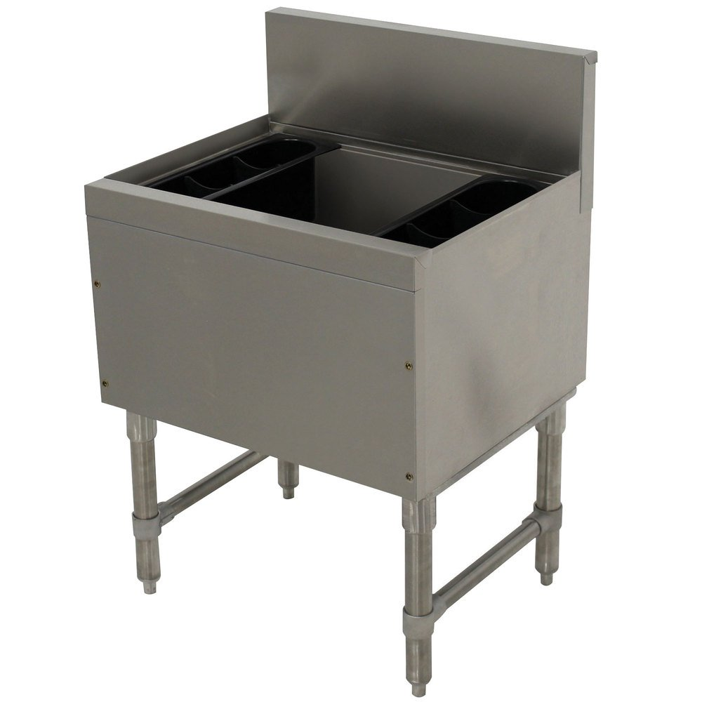 Advance Tabco PRI-19-24-10-XD Prestige Series Stainless Steel Underbar Ice Bin with 10-Circuit Cold Plate - 20'' x 24''