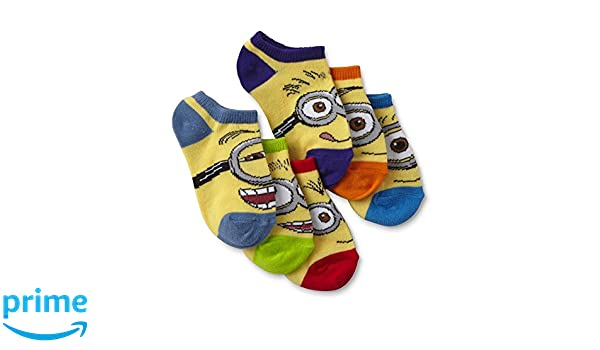 Amazon.com: Minions Despicable Me Toddler Boys No Show Socks 6pairs 2T-4T: Clothing