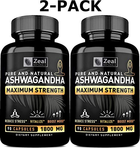 Organic Ashwagandha Capsules Anxiety Supplement product image