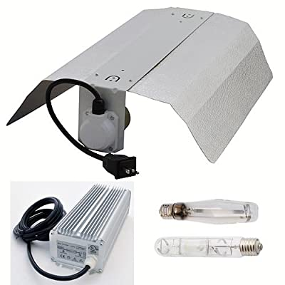 400W HID Grow Light Kit with Electronic Ballast, HPS and MH Bulbs, Reflector, and Hangers