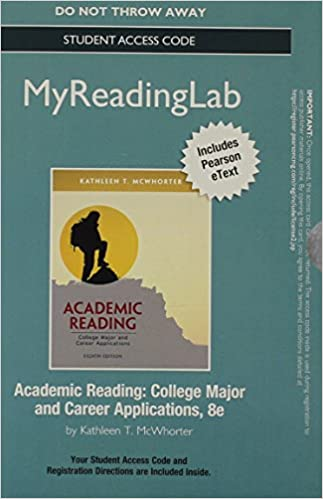 Scarica ebooks formato epub gratuito NEW MyReadingLab with Pearson eText -- Standalone Access Card -- for Academic Reading (8th Edition) 0321872886 PDF DJVU FB2