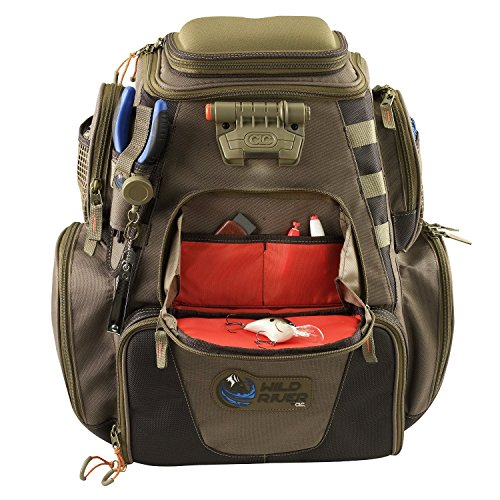Wild River Fishing Bag. Custom Leathercraft Wild River by CLC WN3604 Tackle Tek Nomad Lighted Backpack