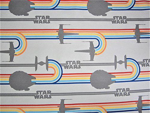 Star Fighter Logo Star Wars 100% Polyester (FLAT SHEET ONLY) Size TWIN XL Boys Girls Kids Bedding