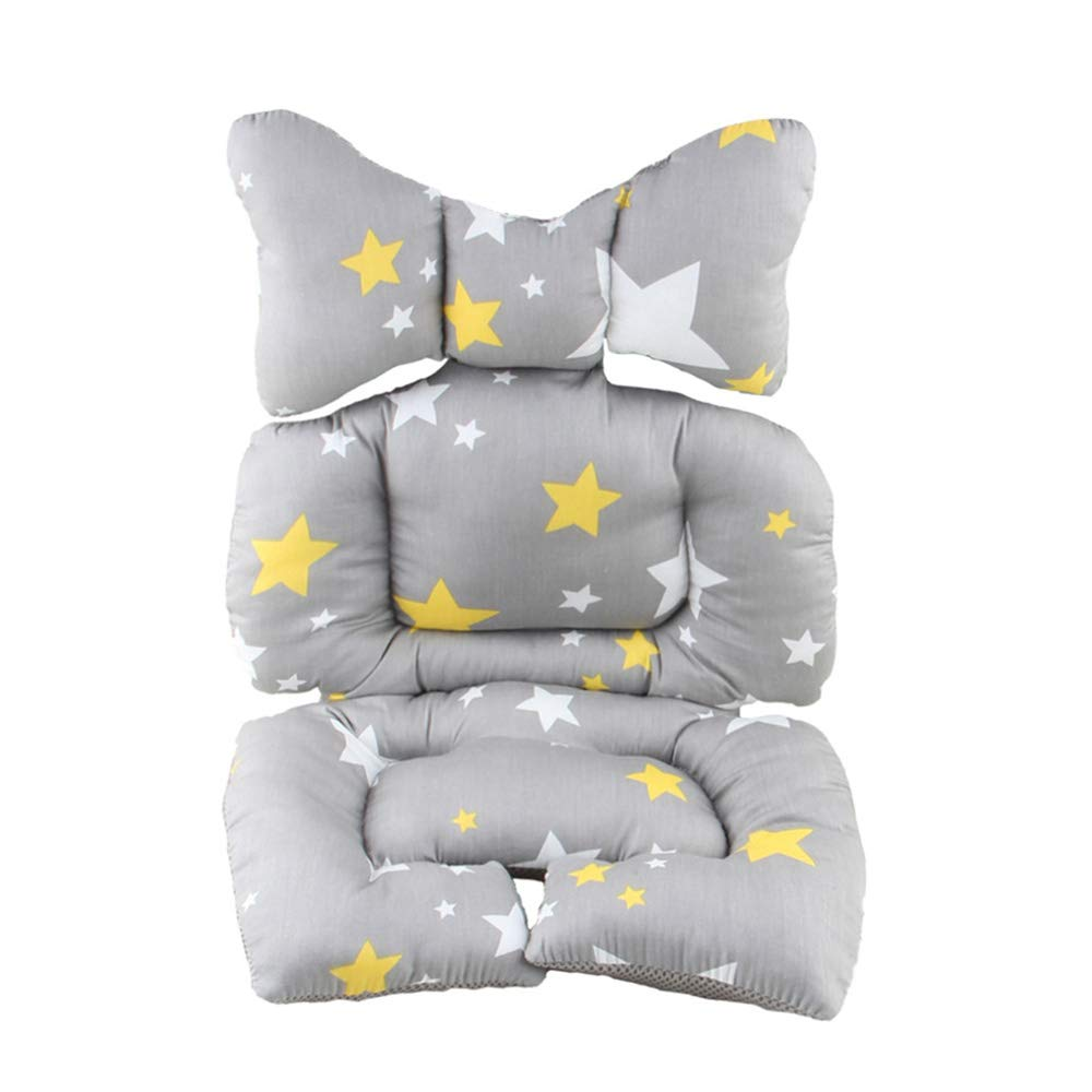 2 in 1 Baby Stroller Seat Pad Liner Pram Cushion and Head Support for Car Seat (Star) by SeedFuture