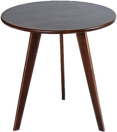 Nan Noyer En Bois Massif Table Basse Salon Chambre Ronde Menage A