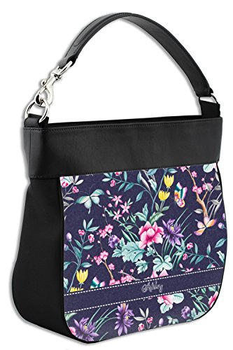 Hobo Purse Genuine Personalized Leather Chinoiserie Front Trim w 6PFwPq