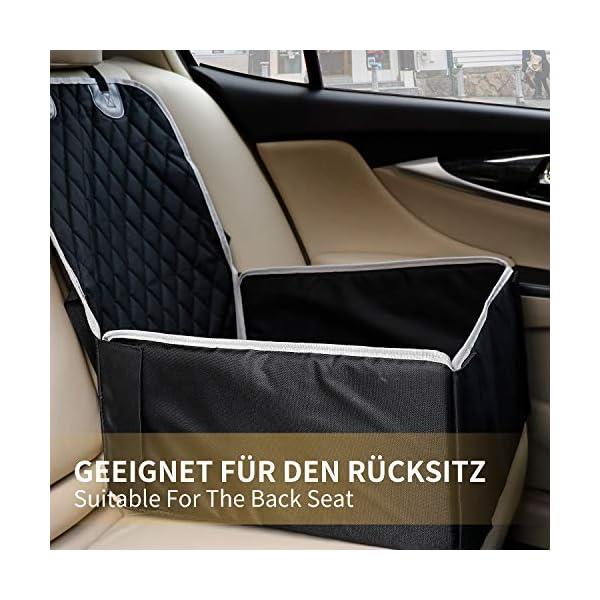 51qnAdLRN4L Toozey Hunde Autositz Hundesitz Auto für Kleine und Mittlere Hunde - Extra Stabiler Hundesitz für Rückbank und…