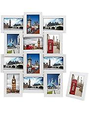 SONGMICS Marcos de Fotos 12 Fotos (10 x 15 cm) + 1 x Marco de Foto MDF
