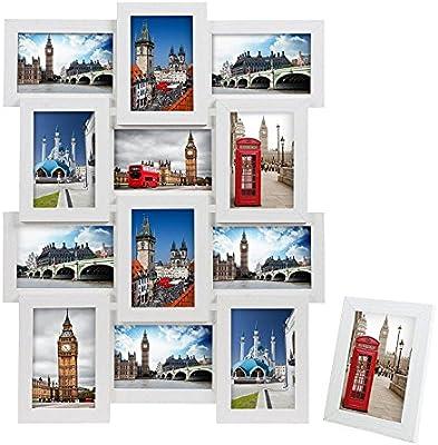 SONGMICS Marco de Fotos Collage para 12 Fotos de 10 x 15 cm + 1 x ...