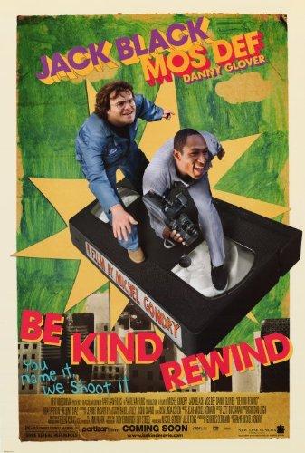 Be Kind Rewind Poster Movie 27x40 Jack Black Mos Def Mia -