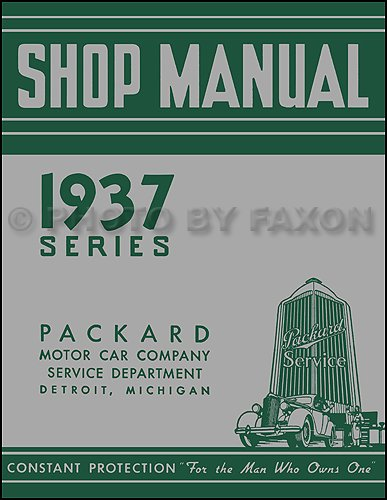 1937 Packard Repair Shop Manual Reprint for sale  Delivered anywhere in USA