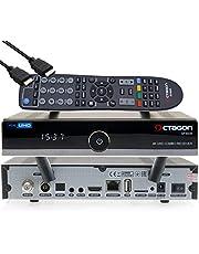OCTAGON SF8008 4K UHD E2 DVB-S2X & DVB-C/T2+Open ATV Vooraf geïnstalleerd met zender lijst Astra & HOTBIRD incl. HDMI-kabel M@tec Digital