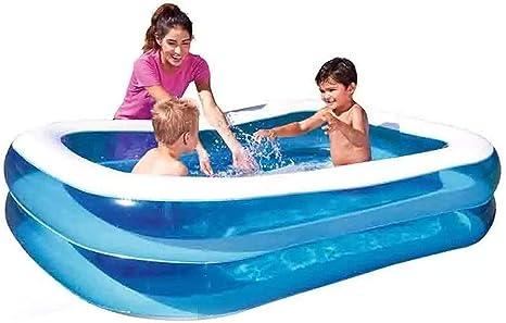 DSHUJC Piscina Inflable Piscina Infantil para niños Piscina Familiar para Adultos para Interior al Aire Libre (262 X 175 X 51Cm): Amazon.es: Deportes y aire libre