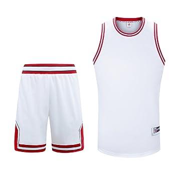 Sanheng Camiseta de Baloncesto para Hombre, Baloncesto Uniforme Camisetas Superiores del Tanque y Pantalones Cortos Juego de Deportes para Entrenamiento ...