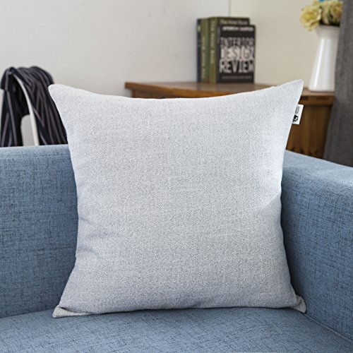Kevin Textile Breathable Decor Linen Throw Pillow Euro Sham Pillow Case Cushion Cover for Kids/Bed, 18