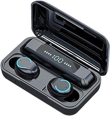 Bluetooth 5 0 Headset Tws Wireless Earphones Mini Earbuds Stereo Headphones 2019 Black At Amazon Men S Clothing Store