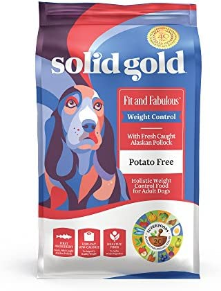 Solid Gold – Fit Fabulous – Grain-Free Natural Chicken, Sweet Potato Green Bean – Holistic Weight Control Dry Dog Food – 4 lb Bag