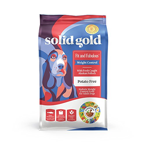 Solid Gold - Fit & Fabulous - Potato-Free Fresh Caught Wild Alaskan Pollock - Holistic Weight Control Adult Dry Dog Food - 24 lb Bag