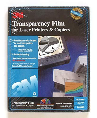 3M Transparency Film for Laser Printers and Copiers ()