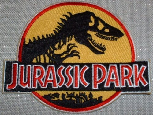 1 X Jurassic Park Logo Embroidered PATCH