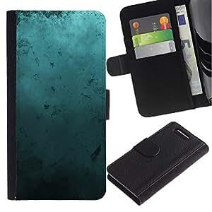 KingStore / Leather Etui en cuir / Sony Xperia Z1 Compact D5503 / Arte Moderno Random azul turquesa del océano