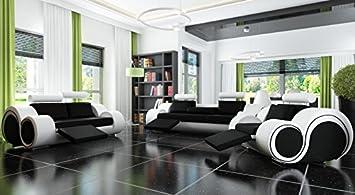 Designersofa Sofagarnitur Sofa Couch Polster Garnitur Ledersofa 32