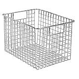 refrigerator interdesign - InterDesign Classico Wire Storage Basket with Handles – 12