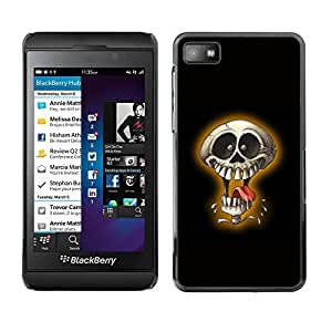 GagaDesign Phone Accessories: Hard Case Cover for Blackberry Z10 - Laughing Skull