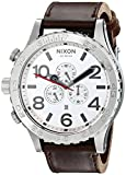 Nixon Men's A1241113 51-30 Chrono Stainless Steel Watch with Leather Band