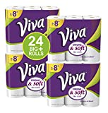 Kitchen & Housewares : VIVA Choose-A-Sheet* Paper Towels, 24 Big Plus Rolls, White