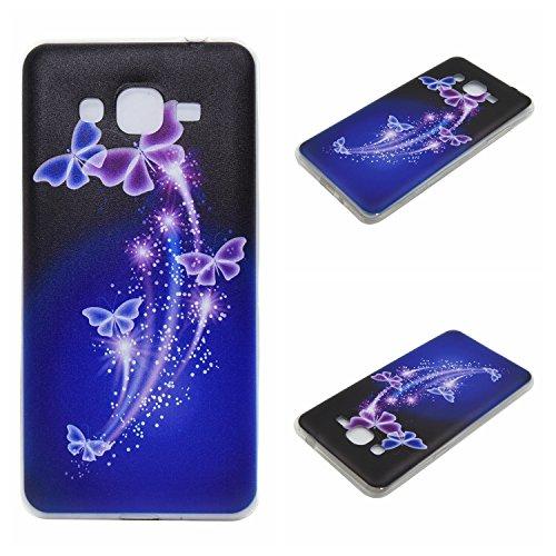Qiaogle Teléfono Caso - Funda de TPU silicona Carcasa Case Cover para Apple iPhone 7 (4.7 Pulgadas) - DD10 / Retro Tribal Rayas DD08 / Crecer mariposa