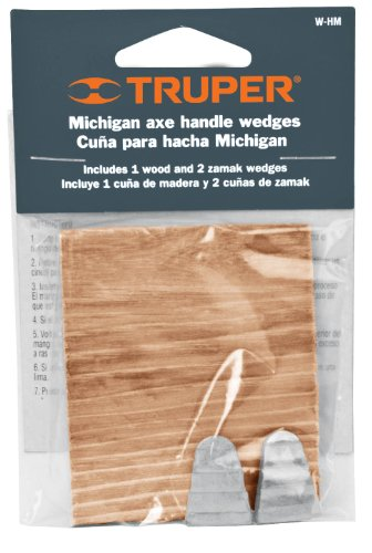 Truper 33948 One Wood Two Steel Wedge Kit for Axes