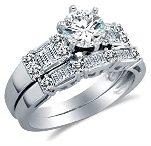 wedding rings amazon 14k white gold cubic zirconia engagement ring with 1011