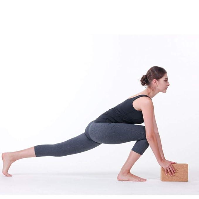 Amazon.com: Bloques de yoga de corcho de roble natural de ...