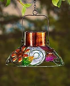 Lámpara solar de jardín colorida mariposa