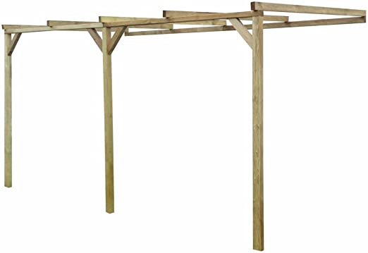 Xingshuoonline Pergola Madera Pérgola de Madera con Techo Inclinado, 2 x 4 x 2, 2 m Pergola: Amazon.es: Jardín