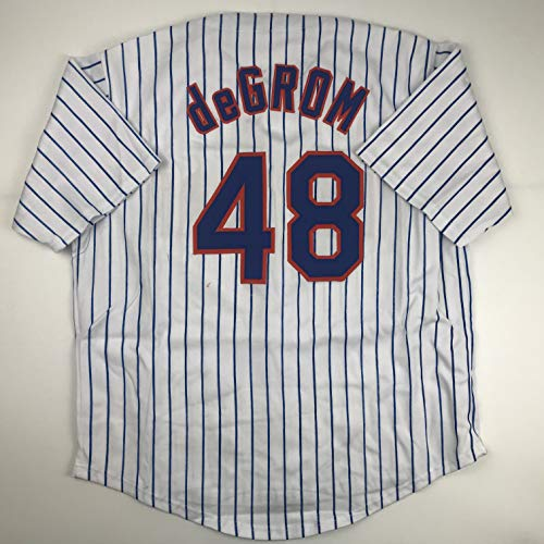 Unsigned Jacob DeGrom New York Pinstripe Custom Stitched Baseball Jersey Size Men's XL New No Brands/Logos ()