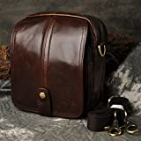Le'aokuu Mens Genuine Leather Fanny Messenger