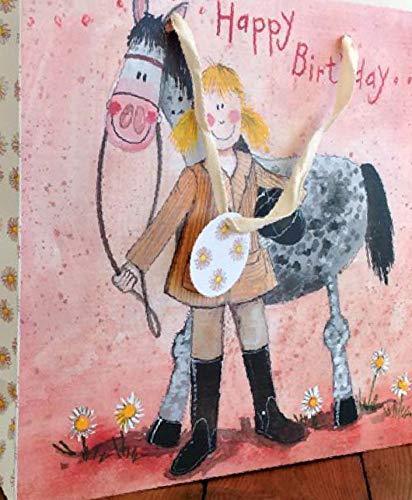 (Alex Clark Art Girl and Horse Happy Birthday Gift Bags Set of Three)