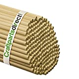 Wooden Dowel Rods - 3/8'' x 36'' Unfinished Hardwood Sticks - For Crafts and DIY'ers - Craftparts Direct - Bag of 25
