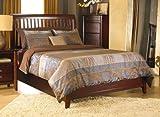Modus Furniture 1X50P4 City II Rake Bed, Full, Coco