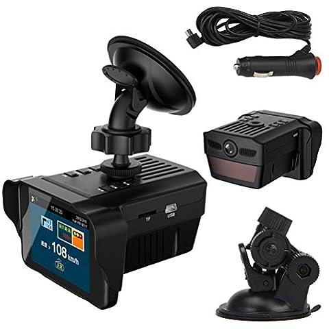 Car Dash Cam Recorder, KOOZIMO Car Electronic Dog Radar Detector Rearview Mirror Vehicle Video Camera (Microcassette Storage)
