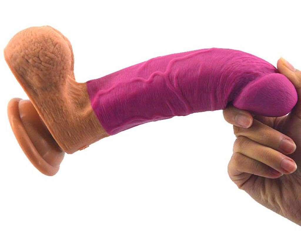 Dildo Simulación Pene Masaje Stick 8,46 Pulgadas Punto Silicona Simulación Pene G Punto Pulgadas Orgasmo Masturbación Dispositivo De Gran Tamaño Patio Trasero Plug Falso Pene Masaje Femenino,B 6faebb