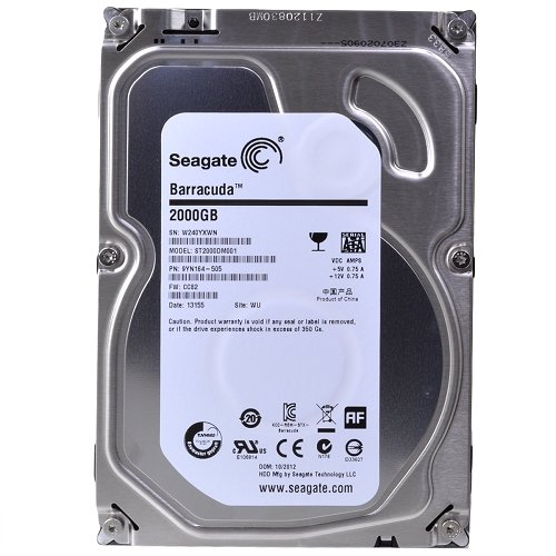 (Old Model) Seagate 2TB Desktop HDD SATA 6Gb/s 64MB Cache 3.5-Inch Internal Bare Drive (ST2000DM001)