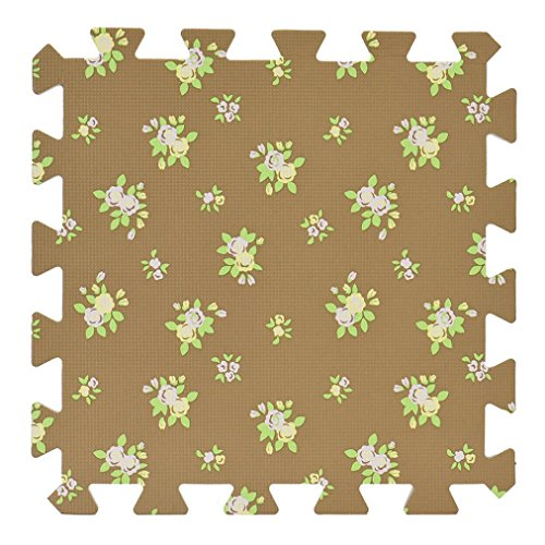 Solid Color Eva Foam Puzzle Splice Floor Mat - 5